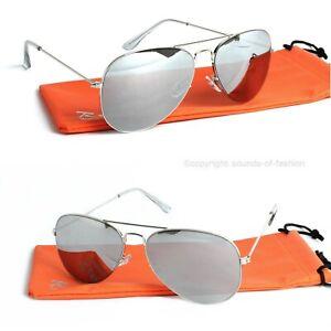 Rennec-Piloten-Sonnenbrille-Silber-70-Retro-Pilotenbrille-Edelstahl-Damen-Herren