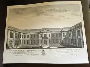 RARE-18-034-x-13-75-034-P-FOUQUET-JUNIOR-DUTCH-ENGRAVING-PRINT-OF-AMSTERDAM-89