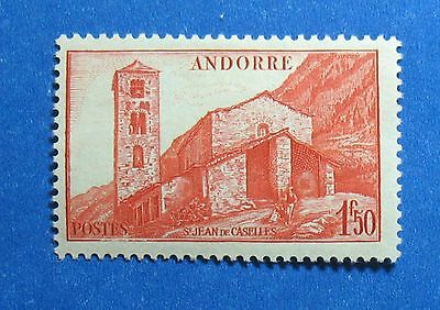 Constructive 1944 Andorra French 1fr50c Scott# 87 Michel # 105 Unused Cs27680 To Reduce Body Weight And Prolong Life Andorra