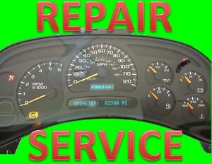 2003 gmc envoy instrument cluster repair