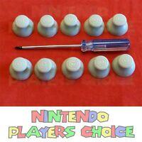 10x Nintendo Gamecube Controller Joystick Caps Gray + Tri Wing Screwdriver