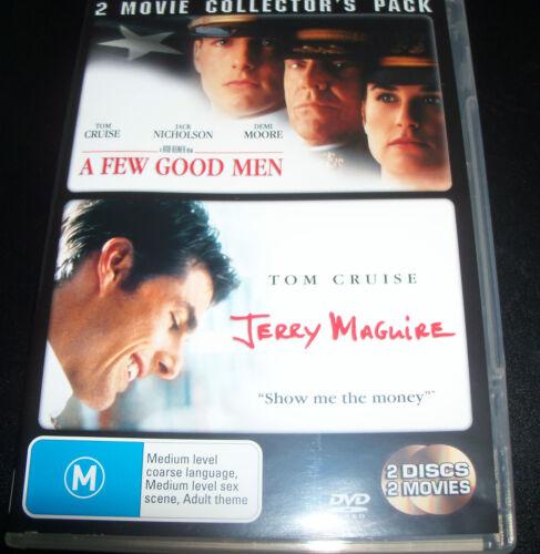1 of 1 - A Few Good Men / Jerry MaGuire (Tom Cruise Jack Nicholson) (Aust Reg 4) DVD