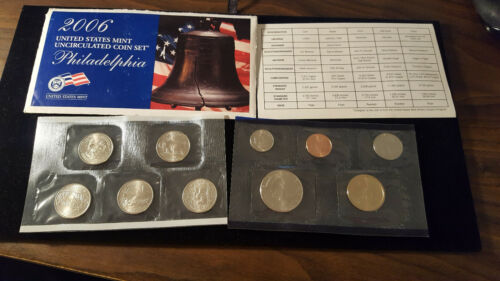 2006 US Coin Mint Set Dollar Kennedy Half State Quarters 10 Coin Free Shipping 2