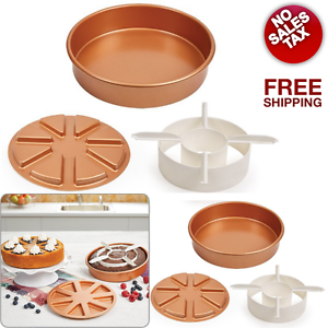 Copper Chef Perfect Cake Pan Nonstick Round 9x9 Quot Set Of 3