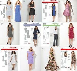 Details about SIMPLICITY SEWING PATTERN AMAZING FIT MISSES & WOMEN PLUS  SIZE DRESS, PANTS UPIC