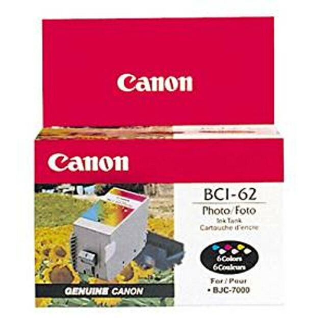 Genuine Canon BCI-62 Color Ink Cartridge NOS Factor Sealed Box