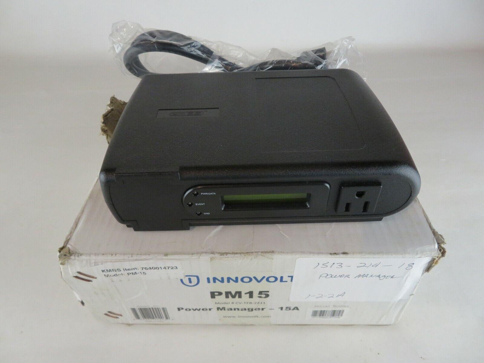 NEW INNOVOLT PM15 POWER MANAGER 15A CVSS CV-TFB-2411 3SPD CVTFB2411 CV TFB 2411