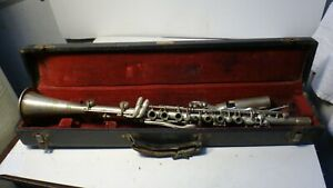 VINTAGE-HOLTON-METAL-CLARINET-IN-CASE-BRILHART-SPECIAL-MOUTHPIECE-L-K