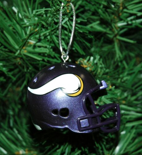 Minnesota Vikings Football Helmet Christmas Ornament
