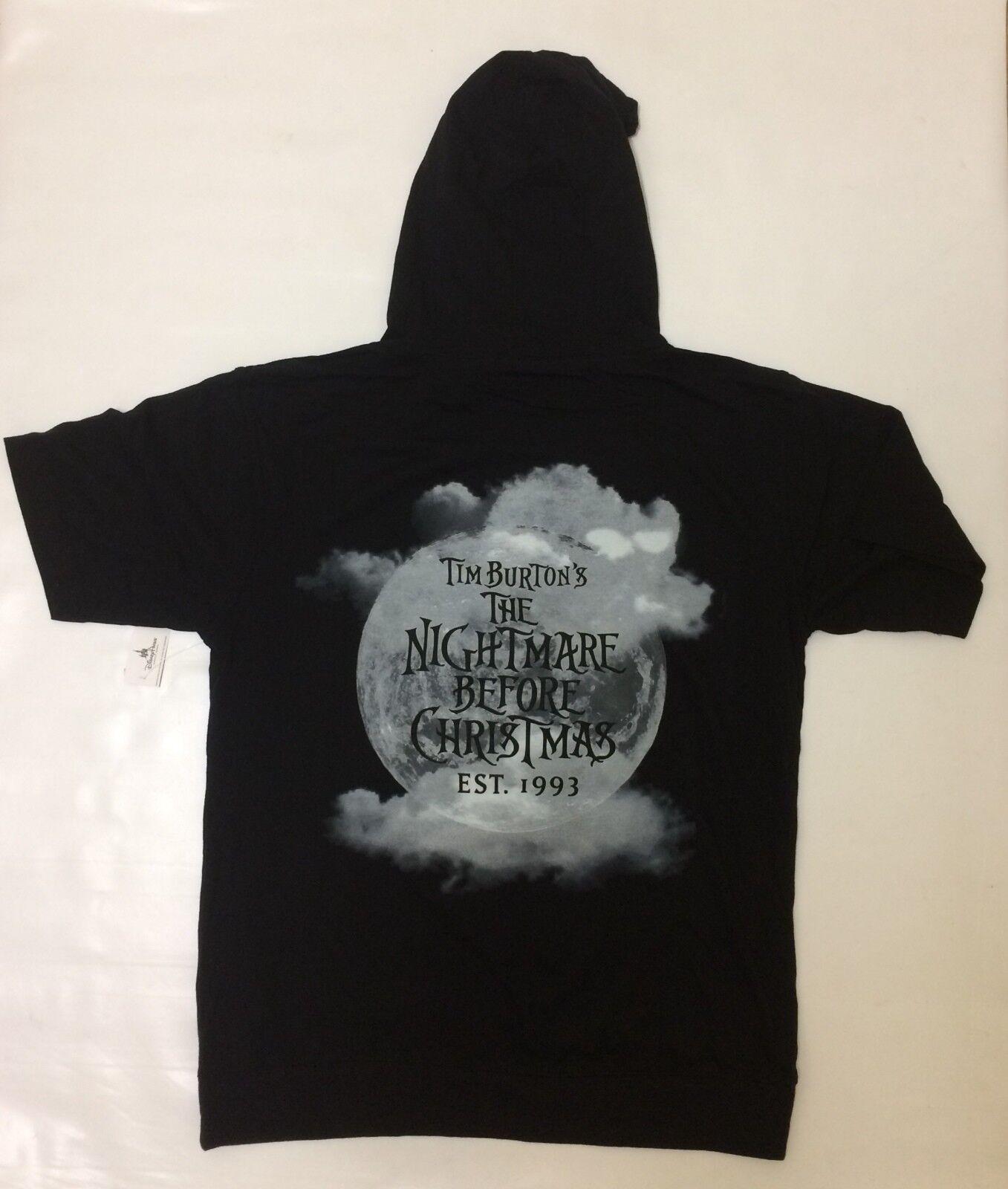 Disney Parks Nightmare Before Christmas Jack Hooded Shirt Black ...