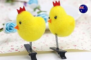 5x-Girl-Kid-Chicken-Hen-Easter-Hat-School-Novelty-Craft-Alligator-Hair-Clip-On