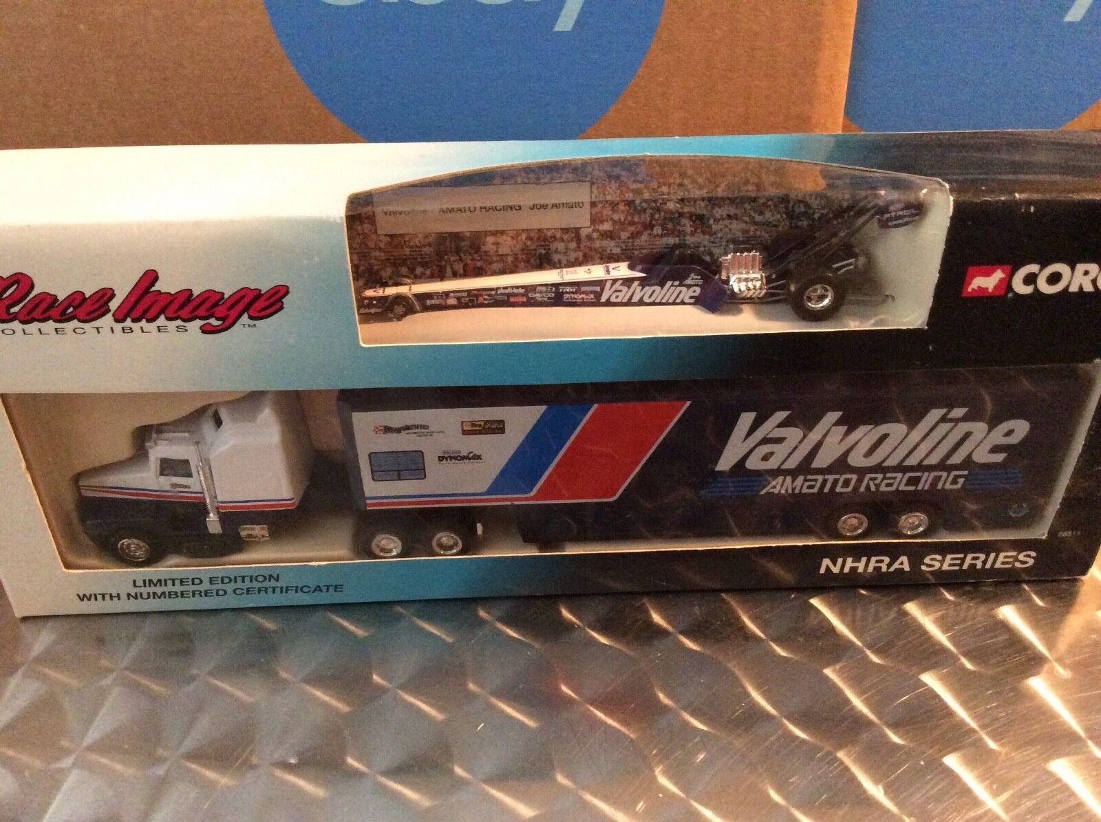 Amato racing transport Corgi semi kenworth Nhra top fuel  kw valvoline 1 64 1994