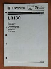 HUSQVARNA Rasentraktor LR 130 Ersatzteilliste parts list Ausgabe 2000