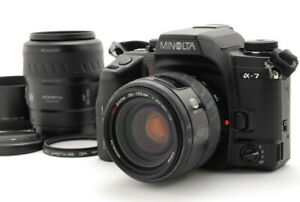 Minolta Maxxum 7 Dynax 7 Alpha 7 a-7 Film Kamera Body mit 35-105mm 80-200mm d760