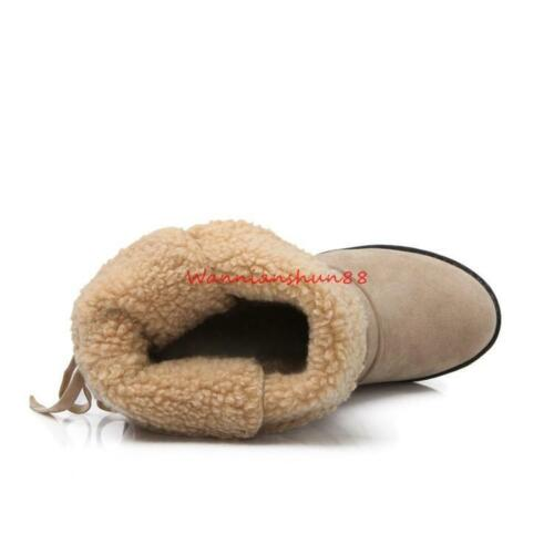 Femmes Bout Rond chaud bottes de neige High Top lace up casual Talon Bas Party Chaussures