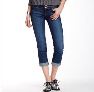 NWOT-Hudson-Jeans-Ginny-Deco-Cropped-Capri-Cuffed-Straight-Leg-Size-26