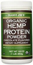 Trader Joe's Organic Hemp Protein Powders Chocolate flavored 16oz. New & Sealed