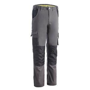 Pantalon de travail avec emplacements genouilleres Richy NW gris du 36 au 56