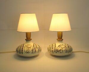 Art.001420 coppia di lampade da tavolo design anni 60 table lamp