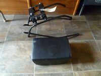 A102 Royal Enfield 90-07 Vom Pavillion Passenger Seat Kit Black Motorcycle