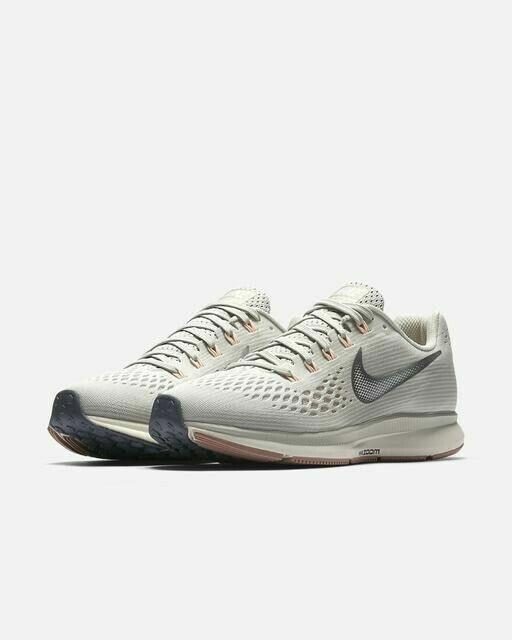 Nike Women's Air Zoom Pegasus 34 Running Shoes Light Bone Silver 880560 004 NWOB