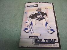 NHL TAMPA BAY LIGHTNING, ICE TIME 2006-2007 PROGRAM GUIDE