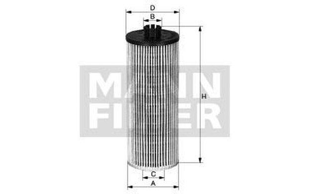 MANN-FILTER Filtro combustible VOLKSWAGEN TOUAREG PHAETON PU 821 x-2
