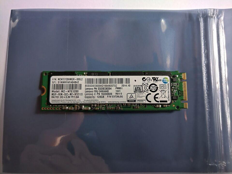 Samsung SSD M.2 2280, 128 GB, Perfekt