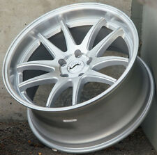 19X11 +15 AodHan DS02 5X114.3 Concave Silver Machined Rims Set 4