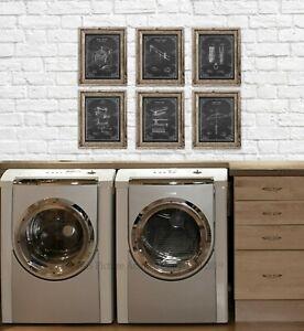 Image Is Loading Laundry Room Decor Set Of 6 Unframed