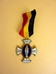 alte-Medaille-Orden-Ave-Maria-Gratia-Plena-Bruxelles-emailliert-Belgien