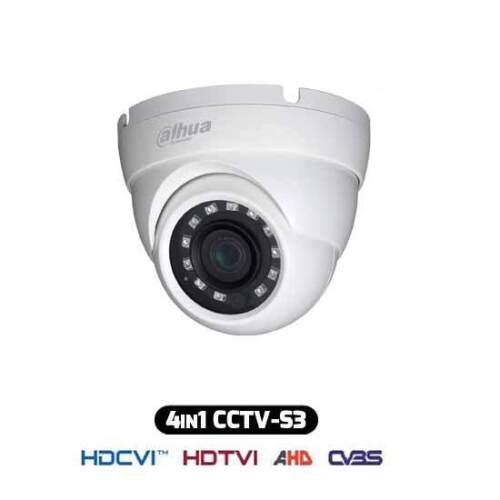 Dahua HAC-HDW1000M-S3 Telecamera Dome HDCVI IBRIDA 4IN1 720p 1Mpx 2.8MM HAC-HDW1