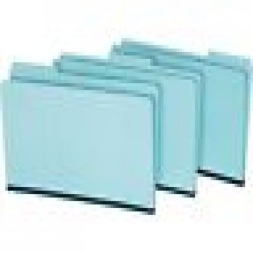 Pressboard 1 inch Expansion file folders 3 tab 25 count blue legal size 1//3 tab