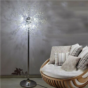 8x2w Led Modern Crystal Living Room Floor Lamp Chrome Bedroom Landing Lights Ebay