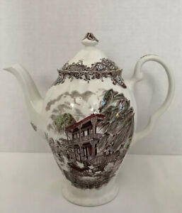 Johnson-Brothers-Heritage-Hall-Made-In-Staffordshire-England-Tea-Pot-10-Tall