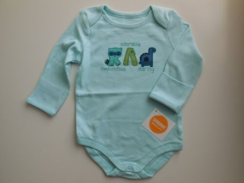 RAD GYMBOREE BABY BOY SOFT LONG SLEEVE ROMPER BODYSUIT SIZE 00 FITS 3-6M *NEW