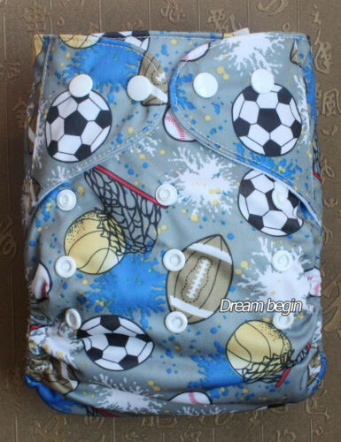 Reusable Baby Cloth Diapers Washable Pocket Nappies Insert One Size fit most
