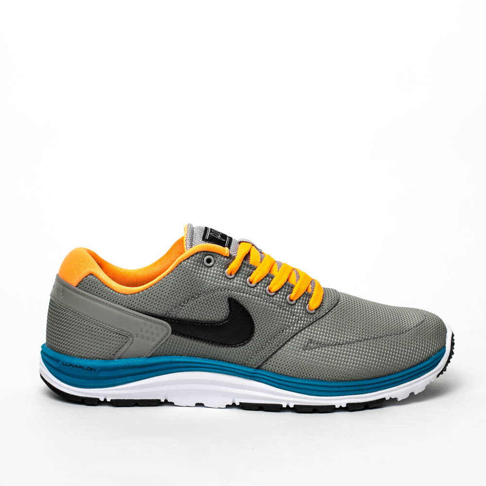 Wild casual shoes NIKE LUNAR ROD MEN'S RUNNING SHOES MEDIUM GREY BRIGHT CITRUS 537693 003