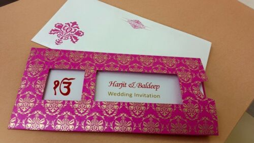 Muslim Indian Hindu Sikh and Asian Wedding Cards Invitations100 PACK