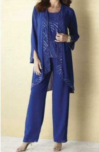 Mother of Bride Wedding party Church Women/'s 3PC duster pant suit size M 10 //12