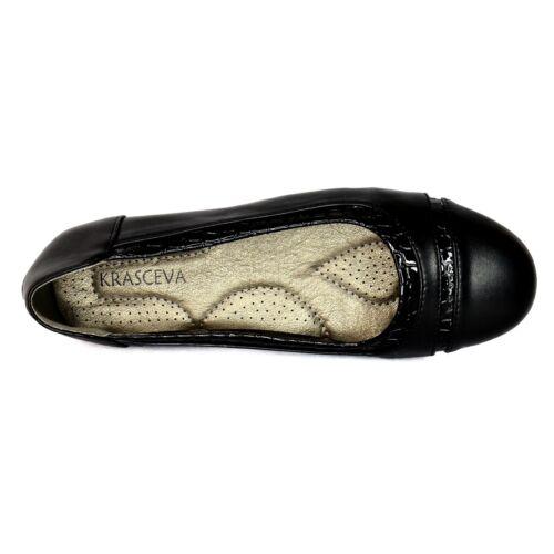 Ladies Slip On Flats Ballerina Ballet Pumps Plain Black Croc print Casual Shoes