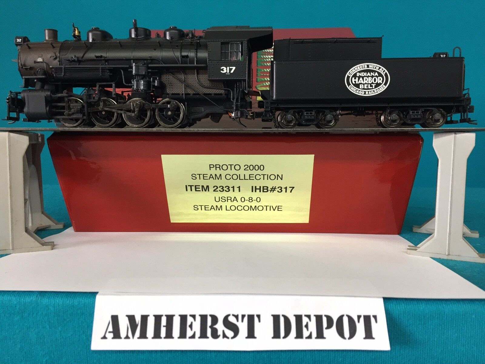23311 Lifelike Predo 2000 Heritage USRA 0-8-0 Indiana Harbor Belt Engine NIB