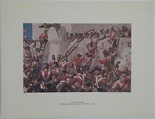 The 30th Foot, Storming of Badajoz, 1812. Richard Simkin. Open Military Print.