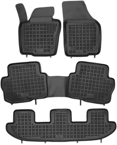 4 pezzi Neri In Gomma Tappetino per SEAT ALHAMBRA 10-18 VW SHARAN II Dal 10