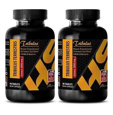 testosterone booster men - TRIBULUS TERRESTRIS 2Bot 180Tab - tribulus bulgarian 616713168915 eBay
