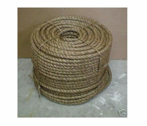 """5//8/"""" TREATED MANILA ROPE CUT TO LENGTH $ .30 per foot Crafts Work Farm Dock NEW"""