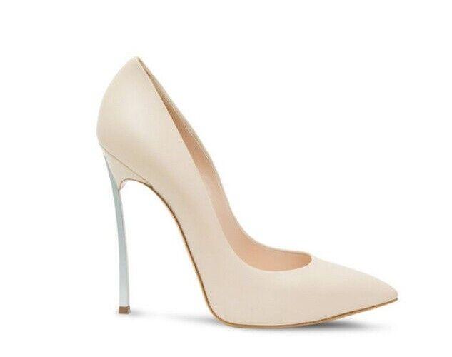 ecco l'ultimo Decolte kim kardashian kardashian kardashian 12 cm stiletto alti curvato eleganti beige  simil pelle  qualità ufficiale