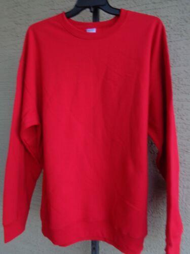 New Port /& Co Essential Fleece 50//50 Cotton Blend Sweatshirt 3XL Bright Red
