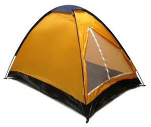 ORANGE-DOME-CAMPING-TENT-7x5-039-2-Person-Two-Man-BLUE-ORANGE-Sealed-Bottom-NEW