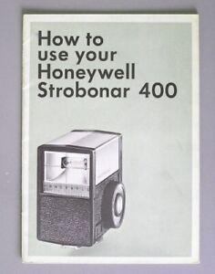 Honeywell Strobonar 400 Instruction Manual Original